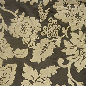 Altamonte Brown Floral Silk Drapery Fabric