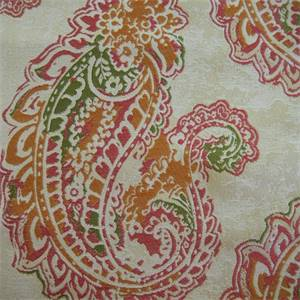 Karma Orchid Paisley Upholstery Fabric