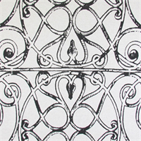 Ironwork Ink Drapery Fabric