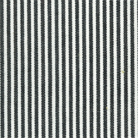 DE41 Essex Black/White Stripe Drapery Fabric by Roth and Tompkins