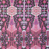Bombay Raspberry Contemporary Drapery Fabric