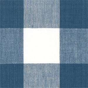 DL01 Lyme French Blue Check Drapery Fabric by Roth and Tompkins
