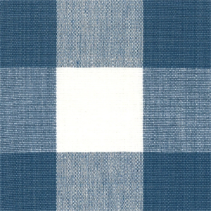 Dl01 Lyme French Blue Check Drapery Fabric By Roth And
