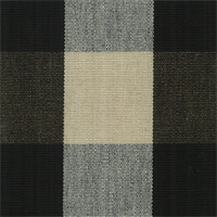 DL07 Lyme Black/Natural Check Drapery Fabric by Roth and Tompkins
