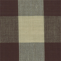 DL34 Lyme Espresso Check Drapery Fabric by Roth and Tompkins