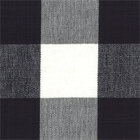 DL41 Lyme Black/White Check Drapery Fabric by Roth and Tompkins