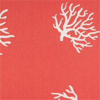 Coral Coral/White By Premier Prints - Drapery Fabric