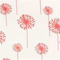 Dandelion White/Coral by Premier Prints - Drapery Fabric