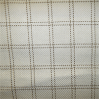 Galapagos Natural Check Upholstery Fabric by P Kaufman