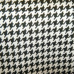 Rex Domino Black White Houndstooth Drapery Fabric