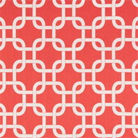 Gotcha Coral/White by Premier Prints - Drapery Fabric