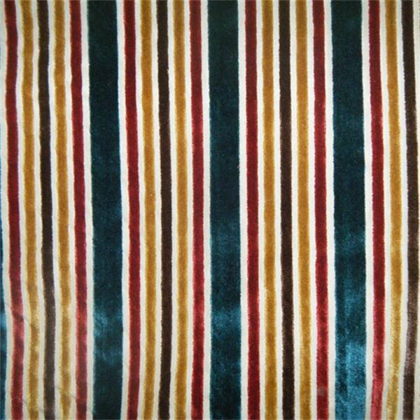 Multi Velvet Stripe Tabriz Upholstery Fabric By Robert Allen 27667