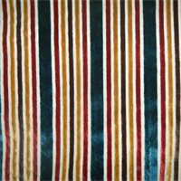 Multi Velvet Stripe Tabriz Upholstery Fabric by Robert Allen