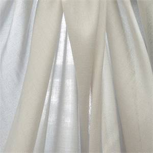 Verona White Linen Laundered Sheer Drapery Fabric