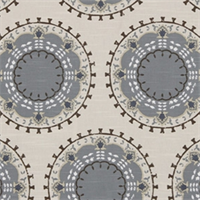 Medallion Band Mineral Suzanni  Drapery Fabric by DwellStudio for Robert Allen