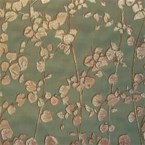 Primrose Aqua Floral Drapery Fabric