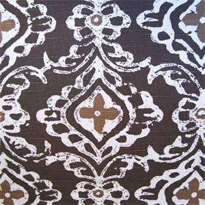 Kashmir Pebble Contemporary Medallion Drapery Fabric