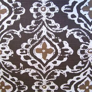 Kashmir Pebble Contemporary Medallion Drapery Fabric