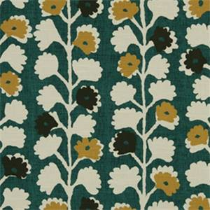 Surreal Vine Jewel Floral Drapery Fabric by Robert Allen