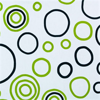 Bubbles Black/Chartreuse By Premier Prints - Drapery Fabric