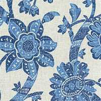 Wythe House Porcelain Linen Drapery Fabric by Iman