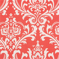 Ozborne Coral White by Premier Prints Drapery Fabric