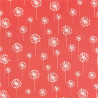 Small Dandelion Coral/White by Premier Prints - Drapery Fabric