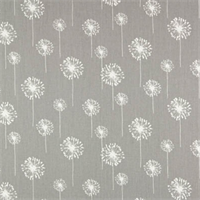 Small Dandelion Storm/White by Premier Prints - Drapery Fabric