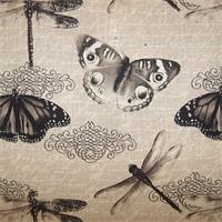 Belgrave Graphite Butterfly Drapery Fabric