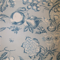 Orchard Toile Delft Drapery Fabric by PK LIfestyles