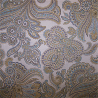 M9197 Citrus Embossed Floral Upholstery Fabric by Barrow
