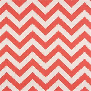 Zig Zag Coral/White by Premier Prints - Drapery Fabric