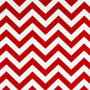 Zig Zag Lipstick/White by Premier Prints - Drapery Fabric