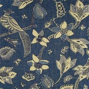 Javanese Indigo Drapery Fabric by Richloom