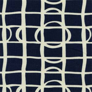 Lattice Graph Ultramarine Drapery Fabric by Robert Allen