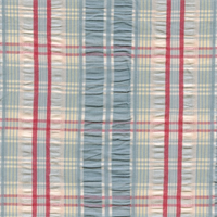 Chesterton Sucker Blue 15 Plaid Drapery Fabric by Covington