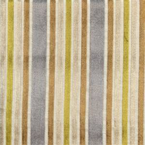 Multi-Velvet Stripe Sterling Drapery Fabric by Robert Allen