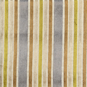 Multi Velvet Stripe Sterling Drapery Fabric By Robert Allen 29080