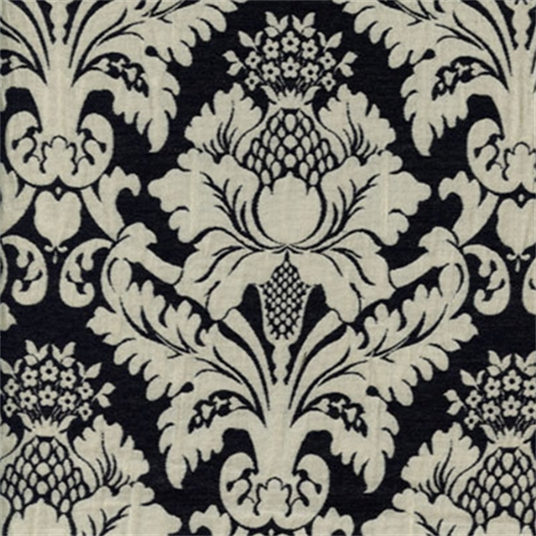 Bohemian Black Floral Drapery Fabric - SW29120 | Fashion ...