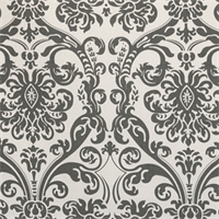 Abigail Flamingo/Grey by Premier Prints - Drapery Fabric