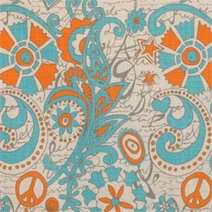 Hippie Chick Mandarin Dossett Drapery Fabric By Premier Prints