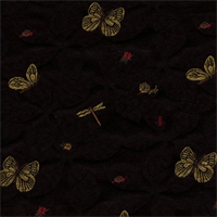 Conservatory Black Embroidered Upholstery Fabric