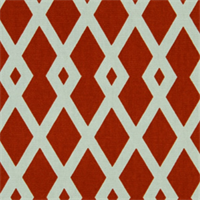 Graphic Fret Pomegranate Drapery Fabric by Robert Allen