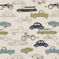 Retro Rides Felix/Natural by Premier Prints - Drapery Fabric