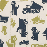 Toy Trucks Felix/Natural by Premier Prints - Drapery Fabric