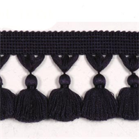 Naples Tassel Trim 6441 Navy Blue