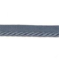 """Blue-Gray Small Lip Cord 3/4"""" Wide Naples 6439"""
