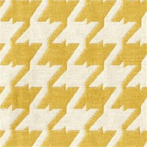 Bohemian 502 Lemon Yellow Houndstooth Upholstery Fabric 29770