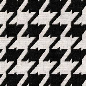Bohemian 9009 Caviar Black Houndstooth Upholstery Fabric - Order by the 12 Yard Bolt