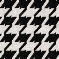*4 YD PC--Bohemian 9009 Caviar Black Houndstooth Upholstery Fabric